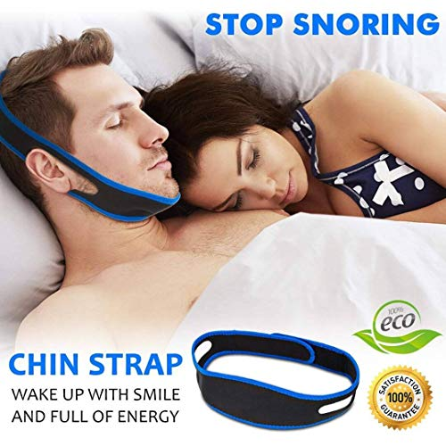 Snore Stopper Chin Strap for Snoring Solution - Silent Snore Sleep Apnea Device - Advanced Anti snoring CPAP Chin Straps for Men & Women Design by ZeroSnore