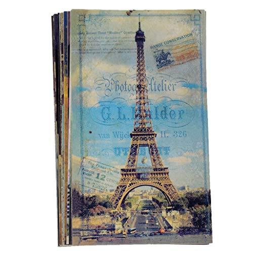 Ogquaton Lot de 20 cartes postales de voyage, édifices vintages, photos, cartes postales durables et utiles