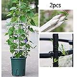 YOGANHJAT Plantes Support Cadre Treillis en métal Treillis Escalade Bricolage Treillis Pyramide Escalade Bricolage pour Plantes grimpantes,Blanc,90cm/35.4in