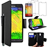 ebestStar - Compatible Coque Samsung Galaxy Note 3 Lite SM-N7505 Etui PU Cuir Housse Portefeuille Porte-Cartes Support Stand +...
