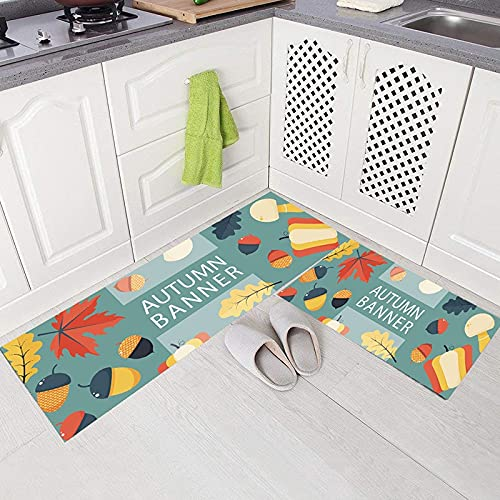 HLXX Alfombrilla de Cocina Estilo de Dibujos Animados Bonitos Alfombrillas absorbentes Antideslizantes Decorativas para Sala de Estar Felpudo para el hogar A11 40x60cm