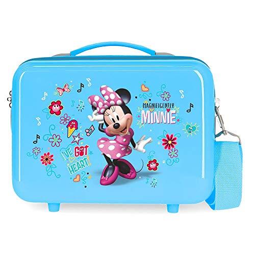 Disney Love Minnie Nececer Adaptable Azul 29x21x15 cms ABS