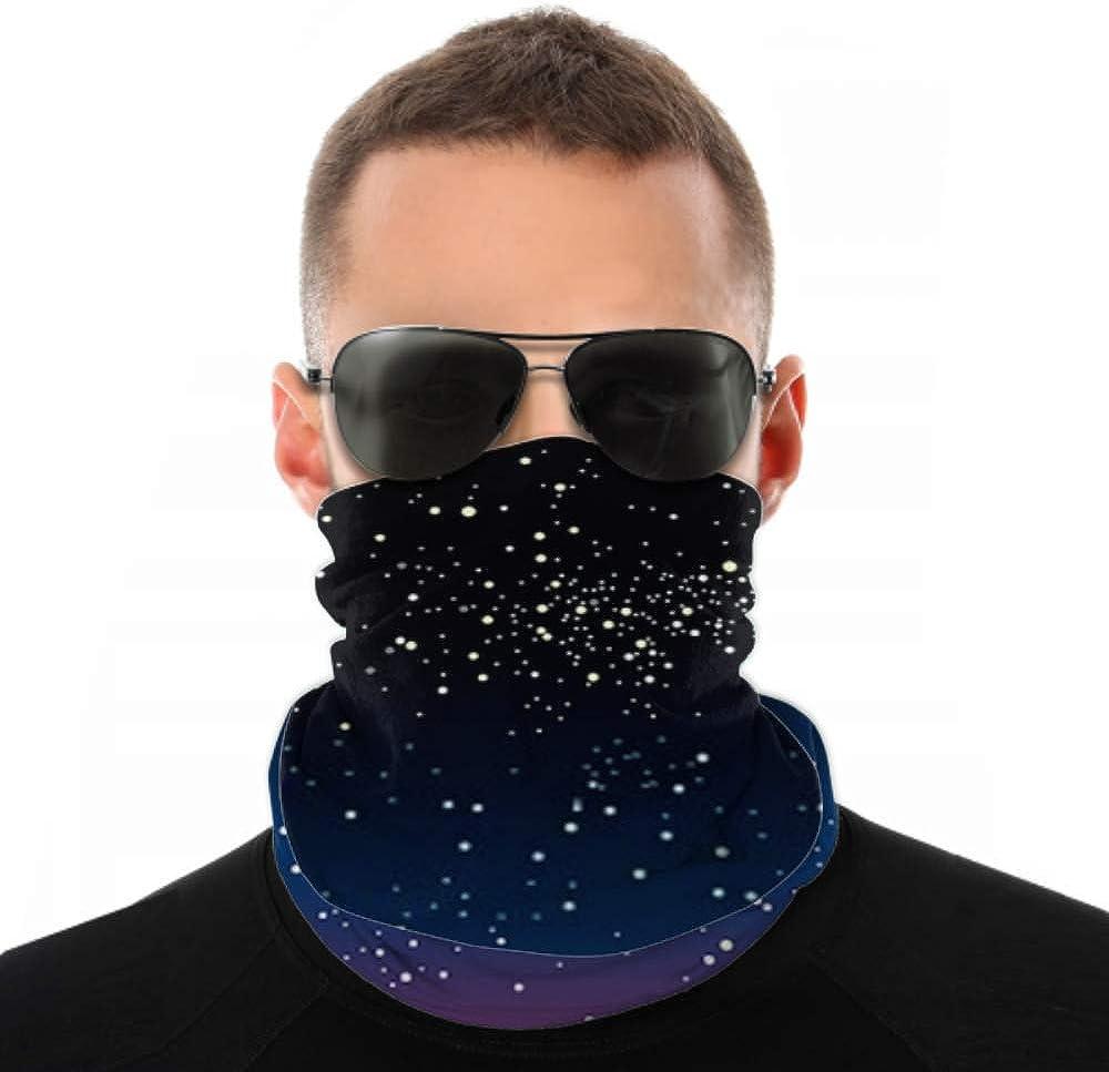 Headbands For Men Women Neck Gaiter, Face Mask, Headband, Scarf Bright Star Blue Dark Night Sky Turban Multi Scarf Double Sided Print Running Headband For Sport Outdoor