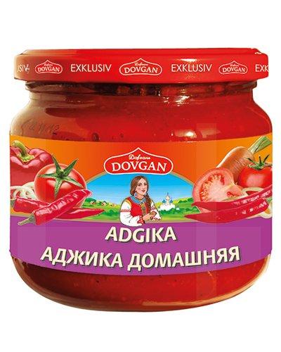 "Dovgan ""Adgika"" Sauce, scharf, 1 KARTON mit 12 Gläser je 380 g"