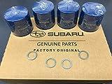 OEM Factory Subaru Engine Oil Filter & Crush Gasket (4 Pack) 15208AA12A Genuine 1990-2018