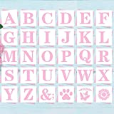 """5"""" Letter Stencils Alphabet Art Craft Stencils - Reusable Mylar Letters templates for Art Craft Writing, Painting and More, 30pcs Set"""