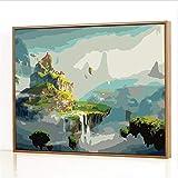 GJJHR DIY Pintura por Números Kits,Xianshan Pintada a Mano Pintura al óLeo Digital, DecoracióN del Hogar Regalo - 40x50cm(Marco de Madera)