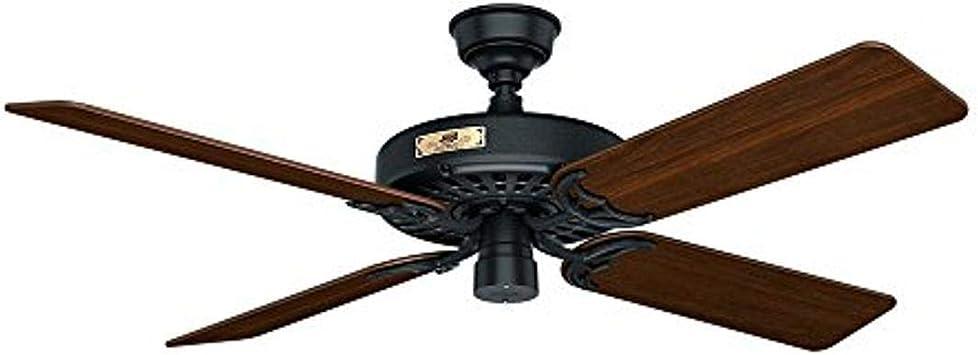 Amazon Com Hunter Fan Company 23838 Hunter Original Indoor Outdoor Ceiling Fan With Pull Chain Control 52 Black Home Improvement