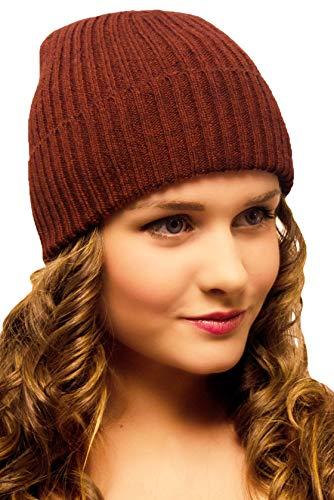 Rot Braun Mütze Damen Herren - Damenmütze Winter Wolle - Strickmütze Beanie Frauen Mädchen Jugendliche - Wintermütze Snowboardmütze Wollmütze - Ski Snowboard Joggen Laufen Fahrrad Fahrradhelm Fashion