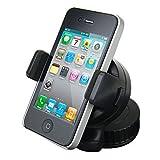 SOPORTE UNIVERSAL GIRATORIO CON PINZA PARA TELEFONO MOVIL COCHE VENTOSA CRISTAL SALPICADERO iPhone...