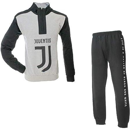 Pigiama Juventus Prodotto Ufficiale Juve Uomo Adulto Grigio ...