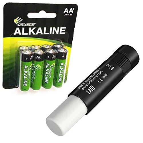 Nitecore LA10 CRI Flashlight 85 Lumens Nichia 219B LED w/ 8x FREE Eco-Sensa AA Batteries