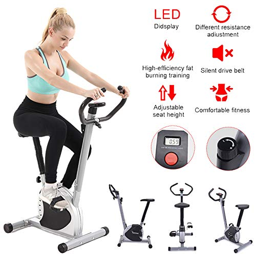 Lhlbgdz Pantalla Digital Cardio Home Gym Fitness Spinning Indoor Ciclismo Entrenamiento Bicicleta estática Home Spinning Bicycle Sport Equipment