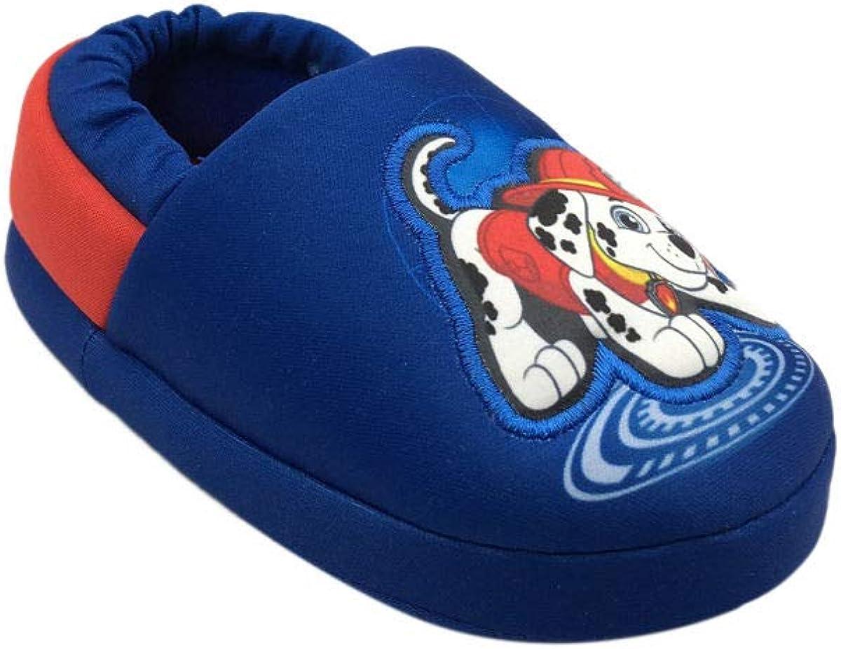 Nickelodeon Boy's Paw Patrol Plush Slipper, (Blue