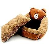 BYJHMB Mascotas Nido Teddy Cute Cartoon Dog Kennel Teddy Samoyedo cálido Perro Cama Gato Perrera en otoño e invierno-3D Smiley Cat_58 * 48 * 15cm