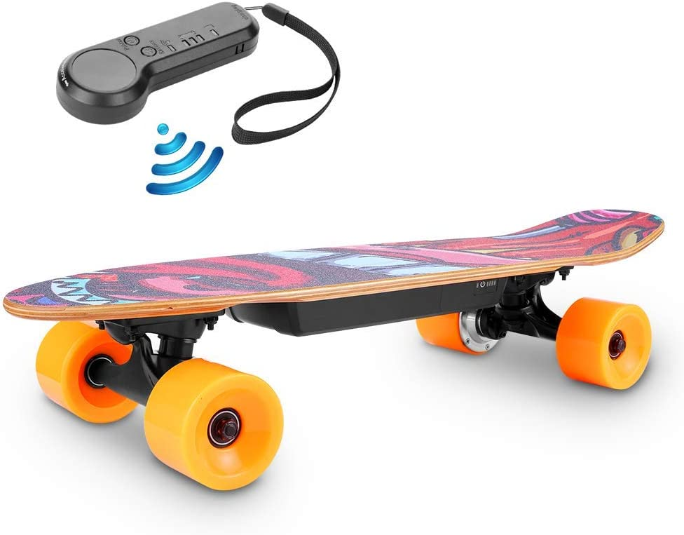 TEXXIS Mini Electric New color Skateboard with E- Remote 350W Our shop most popular