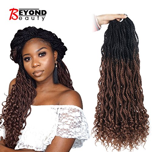 Goddess Box Braids Crochet Braids Hair with Curly ends Synthetic Kanekalon Fiber Braiding Hair...