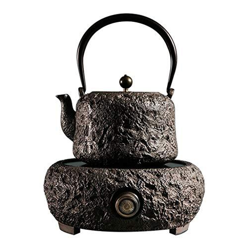 YSXZTCHC Gran Tetera de Hierro Fundido Cobre hervidor Tea Pot Tapa Fabricante de cerámica de la Estufa eléctrica de té japonés Sistema del Equipo 1.6l