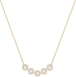 Crystal White Angelic Square Rose Gold-Plated Necklace