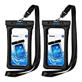 Mpow 084 Waterproof Phone Pouch Floating, IPX8 Universal Waterproof Case Underwater Dry Bag Compatible iPhone 11 Pro Max/XS Max/XR/X/8P/7P Galaxy S10/S9 Note 10/9 Google Pixel Up To 6.5' (Black,Black)