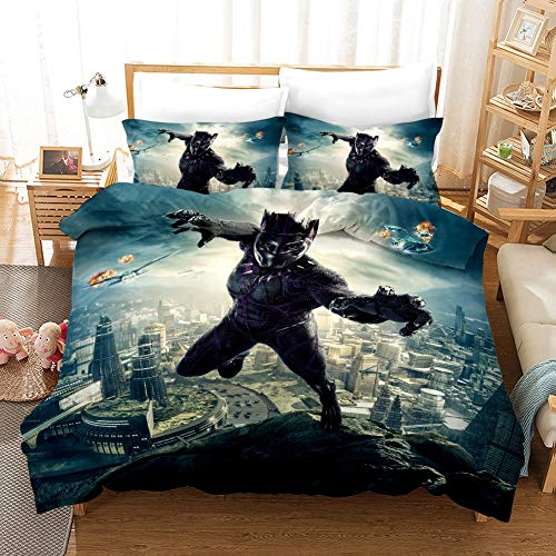 Ksainiy Spiderman Duvet Cover Avengers Endgame Iron Man Captain America Thor Hulk Ant Man Black Widow Adult Kids Double Bed Duvet Set (Size : EU Twin Single Size 135 * 220)