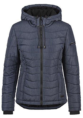 Blend SHE Nyla Damen Übergangsjacke Steppjacke leichte Jacke gefüttert mit Kapuze, Größe:XL, Farbe:Mood Indigo (20064)