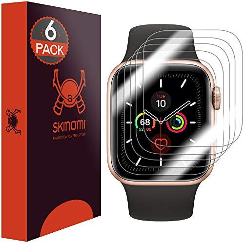 Skinomi TechSkin, Pellicola Protettiva Compatibile con Apple Watch Series 5 44mm, Confezione da 6