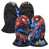 Marvel Avengers Spiderman – Guantes de esquí para la nieve, deportes de invierno con puños elásticos, para niño 78 Navy 1 Dedo 3/4 años