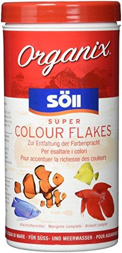 Söll Organix Super Colour Flakes - Hauptfutterflocken für Zierfische reich an Proteinen und Farbpigmenten für natürliche Ernährung und leuchtende Farben
