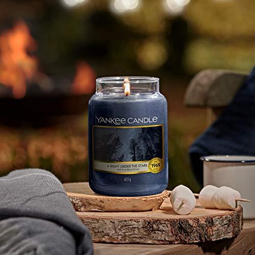 Yankee Candle candela profumata in giara grande   Una Notte sotto le Stelle   durata: fino a 150 ore