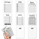 Notas autoadhesivas-Cube Note,8 Paquetes de 400 Hojas/ Bloc de notas de bolsillo, cuaderno que incluye semanal / revisión / recibo / lista de deseos, etc-para suministros escolares y de oficina