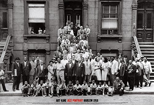 (24x35) Art Kane A Great Day in Harlem Jazz Portrait 1958 Photo Poster Print by Poster Revolution