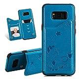 YiCTe Coque pour Samsung Galaxy S8 Plus,relief 3D Coque PU avec et...