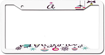 PoppyAnthony Novelty License Plate Frame Aluminum License Plate Slim 4 Holes and Screws for US Canada