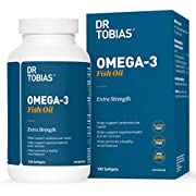 Dr Tobias Omega 3 Fish Oil Triple Strength, 1,165mg, 100 Counts