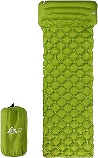 GUOCU Colchón Inflable, Esterilla de Acampada Hinchable Colchoneta de Aire Portátil Ultraligero para Viaje Camping Senderismo Playa Senderismo,Ejercito Verde