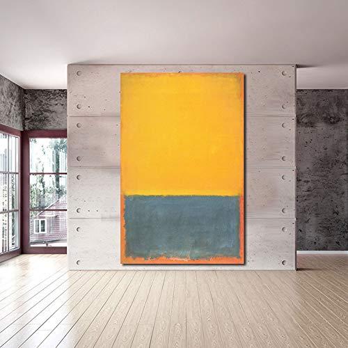 Karen Max Mark Rothko Ölgemälde, klassisches Stillleben, für Wohnzimmer, modernes Bild 36x56inch Frameless