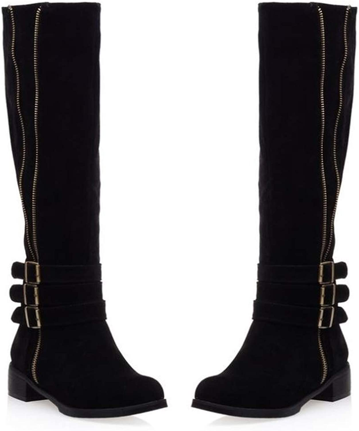 Zgshnfgk Women's Boots with Buckle Straps