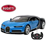 Licensed RC Car 1:14 Scale Bugatti Chiron | Rastar Radio Remote Control 1/14 RTR Super Sports Car Model Blue