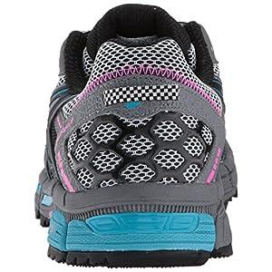ASICS Women's Gel-Kahana 8 Running Shoe, Black/Island Blue/Pink Glow, 8 Medium US