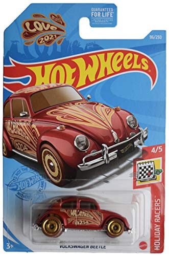 DieCast Hotwheels [Volkswagen Beetle], Valentines [red] 96/250