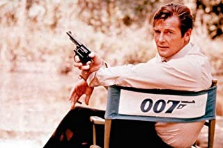 Movie Studio Release 8 x 10 Photo British Actor Roger Moore On Set James Bond 007 Printed On Fuji Film