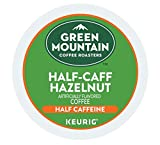 Green Mountain Coffee Roasters Half-Caff Hazelnut Coffee Box of 18 Keurig K-Cup Pods (1 Box)