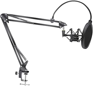 XUHUIXZI Microphone Knife arm Bracket for Condenser Microphone Bracket, with Spider Cantilever and Spray Screen, Indoor En...