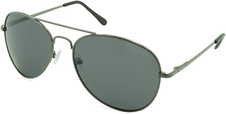 Alta Vision Sunglasses  Polarized Aviator   Frame  Gun Metal Lens  GreyLR129522GUN