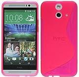 ENERGMiX Silikon Hülle kompatibel mit HTC One E8 Tasche Hülle Gummi Schutzhülle Zubehör in Pink