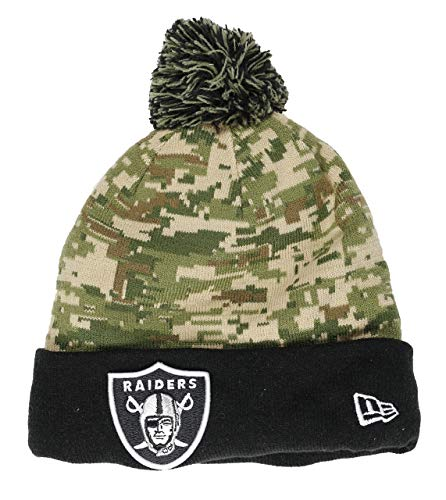 New Era Oakland Raiders Beanie NFL Digi Camo Knit Camouflage/Black - One-Size