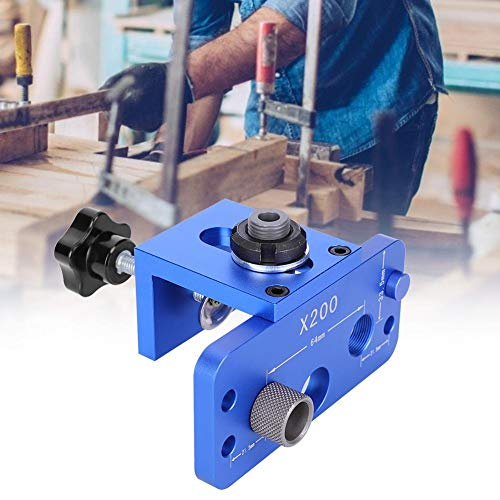 chengong Woodworking Punch Locator, Practical Simple to Operate Aluminum Alloy Long Service Life Woodworking Hole Punch, Durable Drill Guide for Woodworking
