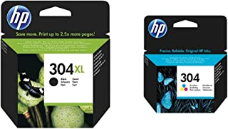 HP N9K08Ae AbeCartuccia D'Inchiostro 304X LNero & 304 Tricromia N9K05Ae Cartuccia Originale Per Stampanti A Getto Di I...