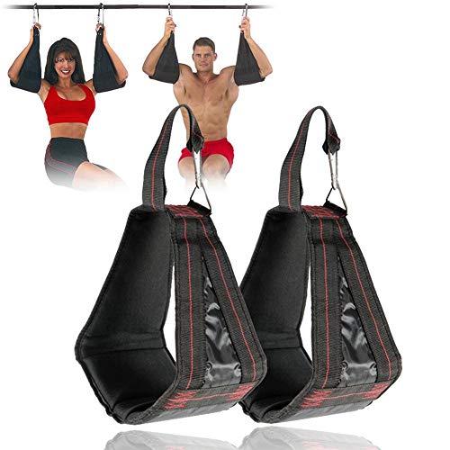 jaspenybow 1 Paar AB-Tragegurte, Bauchmuskeltraining Sling Belt Arms Hanging Pull Up Belt Reverse Pull Sit Ups Klimmzugstange für Indoor Fitness Muskeltraining